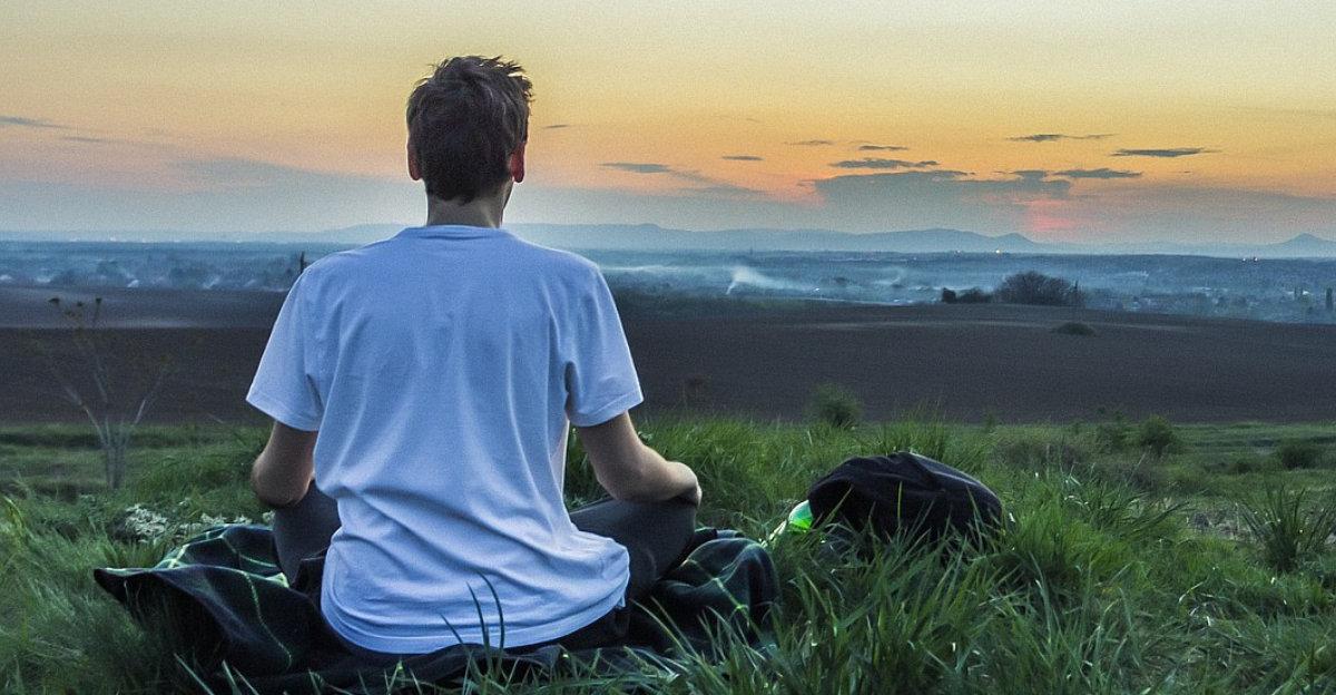 Sahaja yogi meditating
